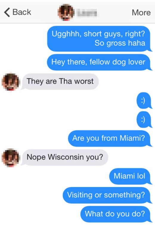 Girl Gets Perfectly Baited About Height Preferences On Tinder (10 pics)