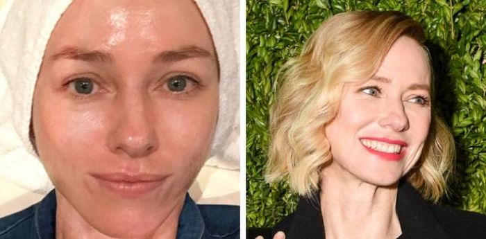 Unbelievable Photos Of Celebs With And Without Makeup (17 pics)