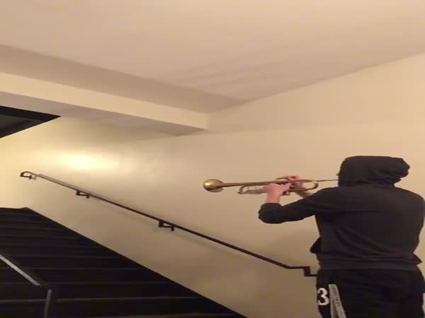 The Force Theme - Star Wars - Stairwell With Awesome Reverb