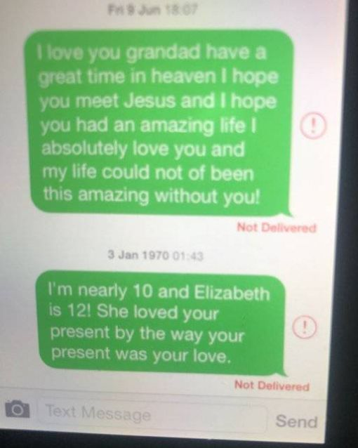 Dad Found Out His Little Daughter Was Still Messaging Her Late Grandpa (6 pics)