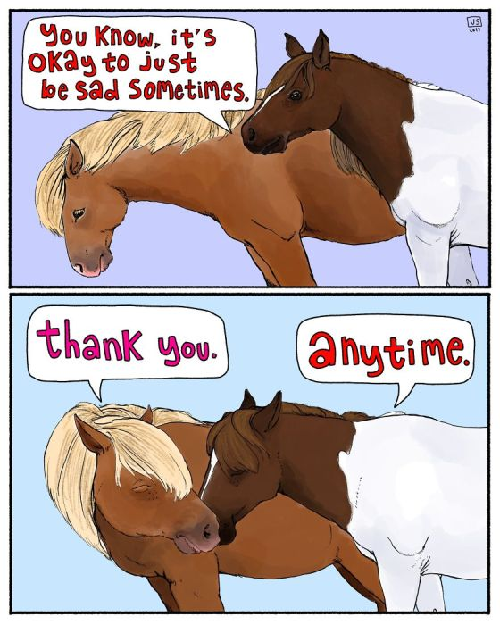 A Girl Makes Animal Comics To Cope With Anxiety (20 pics)