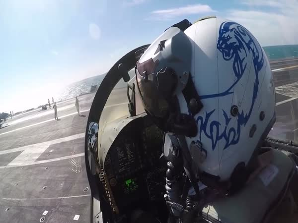 Jet Launch From USS Theodore Roosevelt - Cockpit View