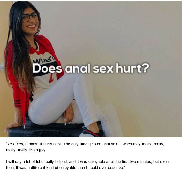 Mia Khalifa Answers Questions About Sex (7 pics)