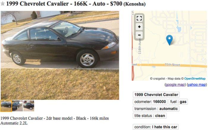 Honest Car Sale Ad (2 pics)