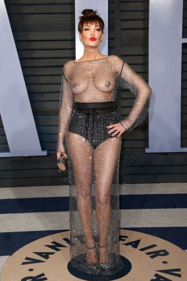 Singer Bleona Qereti Shocks Oscars After-Party With Naked Dress (3 pics)