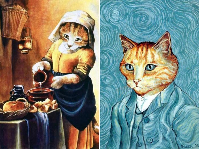 Famous Paintings Recreated With Cats (16 pics)