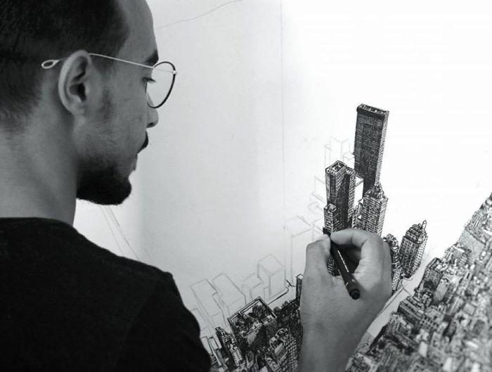 Incredible Drawing Of New York City (10 pics)