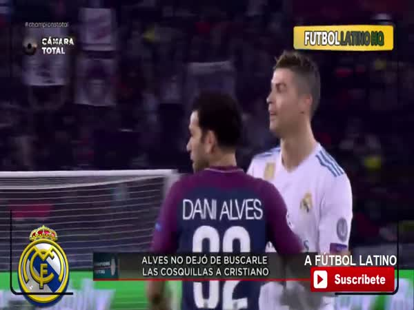 Cristiano Ronaldo Kicks Dani Alves
