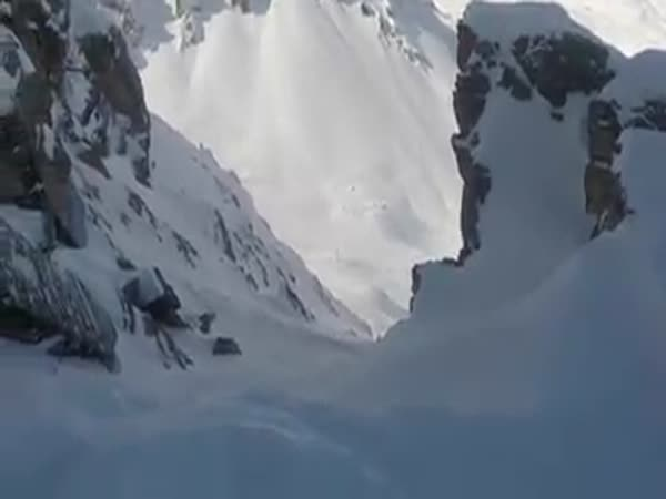 Snowboarder's Helmet Video Shows Narrow Escape From Avalanche