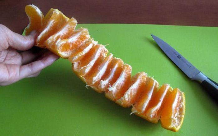 Easy Way To Peel Orange (2 pics)
