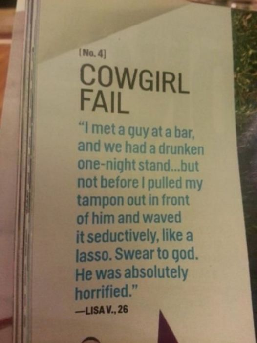 Questionable Things Published in Cosmo (20 pics)
