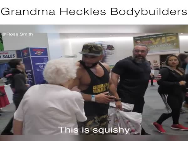 Grandma Messes With Bodybuilders