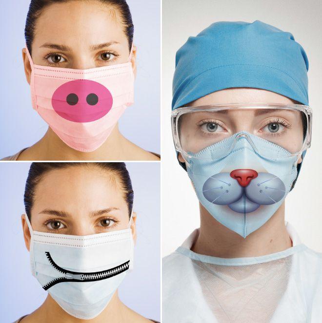 Witzige Schutzmasken