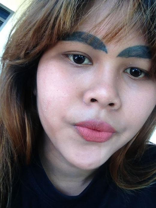 A woman left with slug like eyebrows after botched tattoo for Tattooed eyebrows tumblr