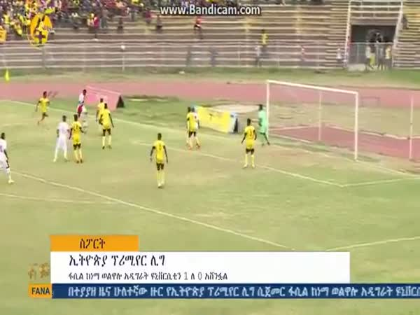 Goalkeeper in Ethiopia Accidentally Throws The Ball Into His Own Net!
