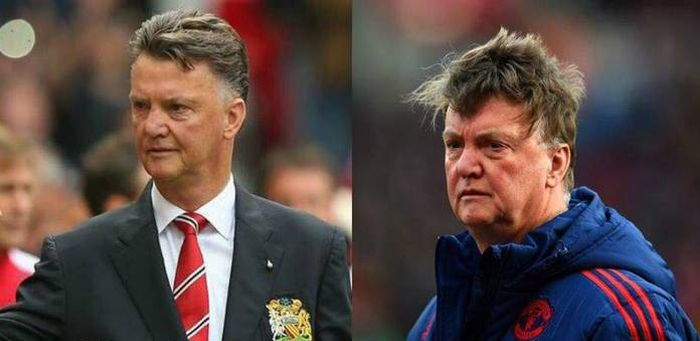 Coaches Of Manchester United Get Older Much Faster (2 pics)