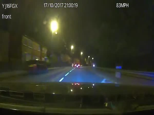 Police Ram Driver Off Road After High-Speed Chase in Leeds
