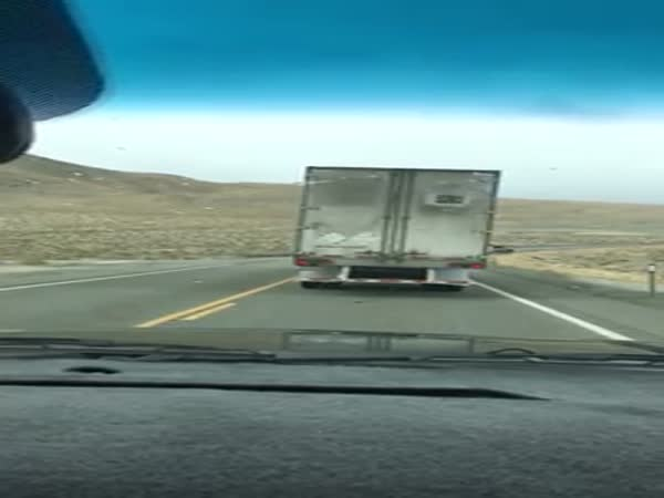 High Winds Flip Big Rig in Nevada