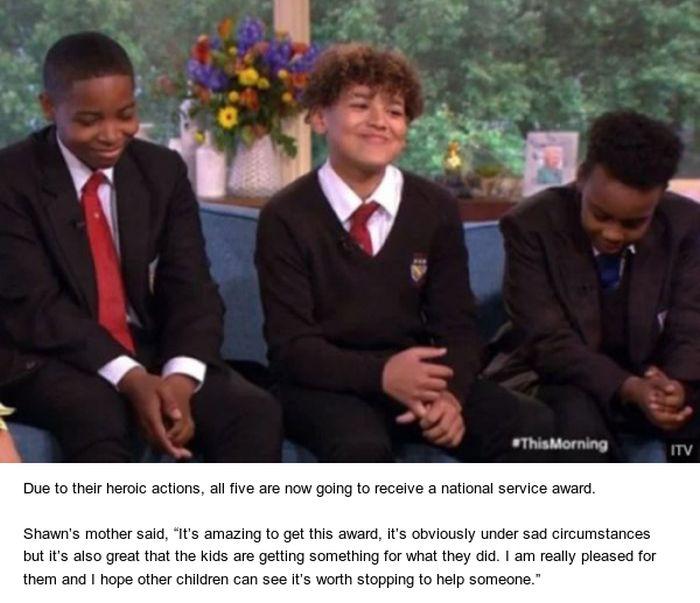 How Three Schoolboys Saved A Man's Life (3 pics)