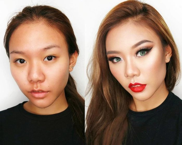 Girls Before And After Make-up (19 pics)