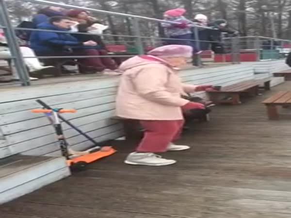 Funny Grandmother Dancing