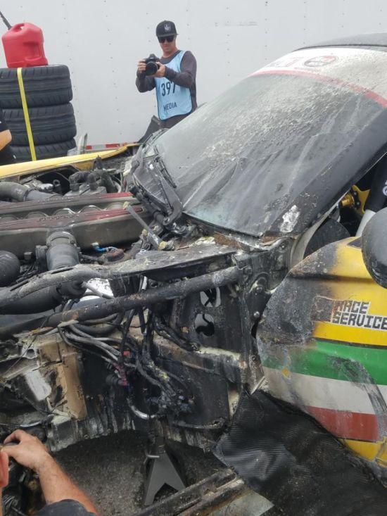 Formula Drift Ferrari Catches Fire On Debut (6 pics)