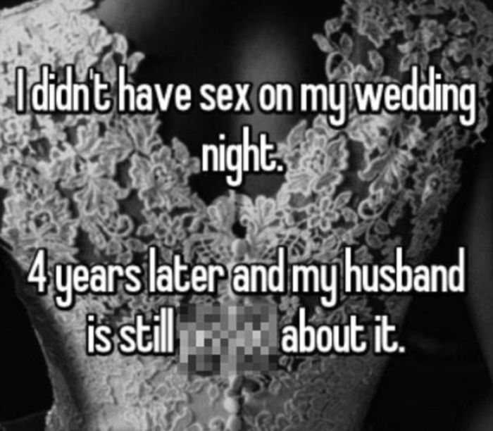 Brides Reveal Why They Didn't Have Sex On Their Wedding Night (16 pics)