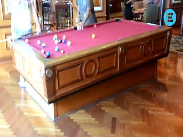 Pool Table Moves to Counteract The Swaying of The Ship