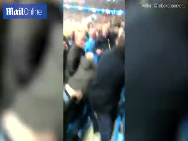 Fan Fight After Man City 1 - 2 Liverpool