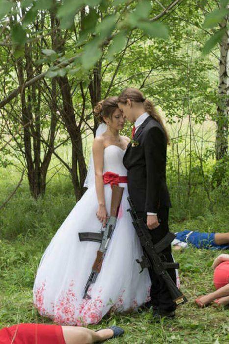 Weird Russian Wedding Photos (49 pics)