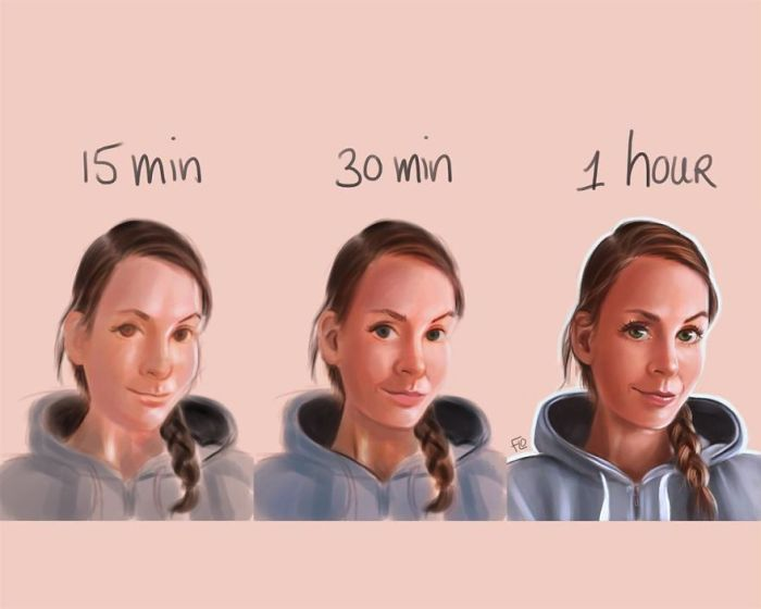 How Much Time One Drawing Takes (25 pics)