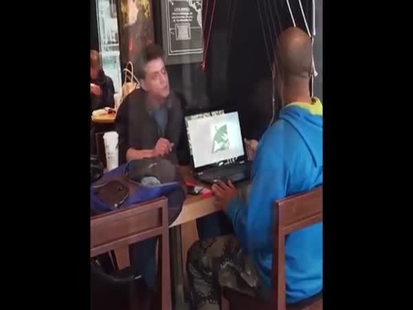 Angry Starbucks Patron Tries To Start Fight With Hebrew Israelite And Loses Big Time