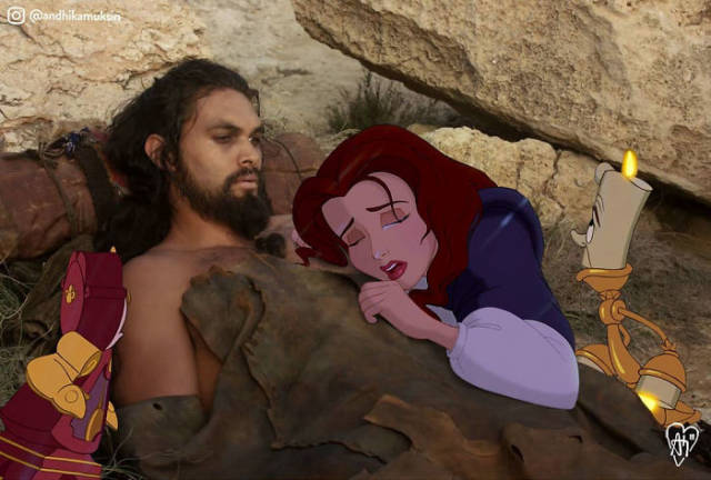 Artist Photoshops Disney Characters Into Celebrity Photos (42 pics)