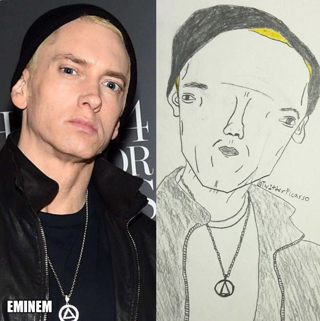 Artist Trolls Celebrities With His Ridiculous Fan Art (16 pics)