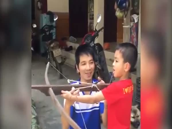 Boy Uses Cross Bow to Pull Out Tooth