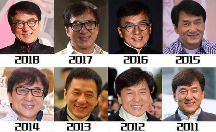 How Jackie Chan Has Changed (12 pics)