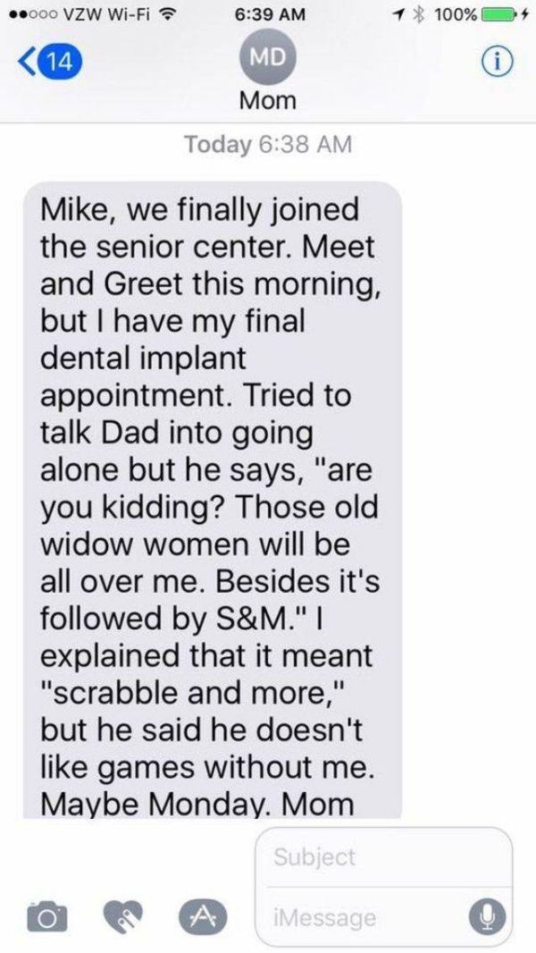 Mike Rowe's Mom Sends The Most Adorable Texts To Her Son (20 pics)
