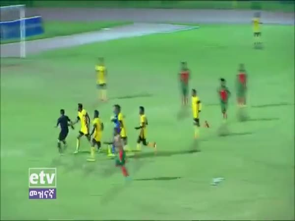 Referee Attacked by Players in The Ethiopian Premier League