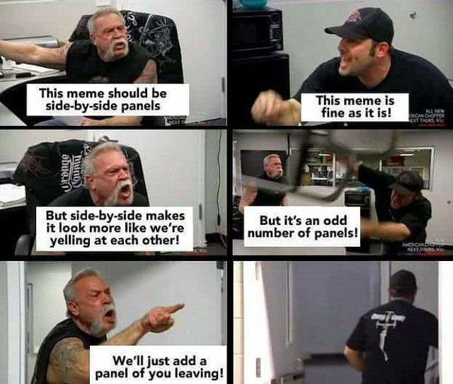 'American Chopper fight' Meme (21 pics)