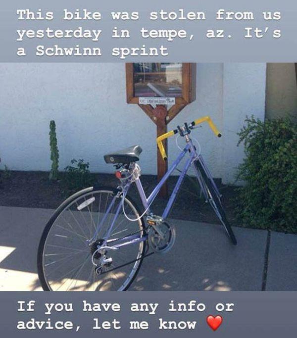 Guy Asks For Help Finding His Girlfriends Stolen Bike (12 pics)