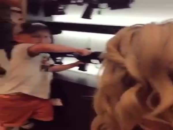 4-Year-Old Boy Knows His Weapon