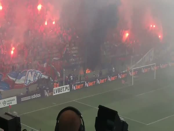 Polish Football Fans Accidentally Ignite Stadium