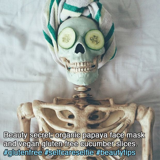 Meet Skellie: The Skeleton Who Imitates Every Girl On Instagram Ever (18 pics)