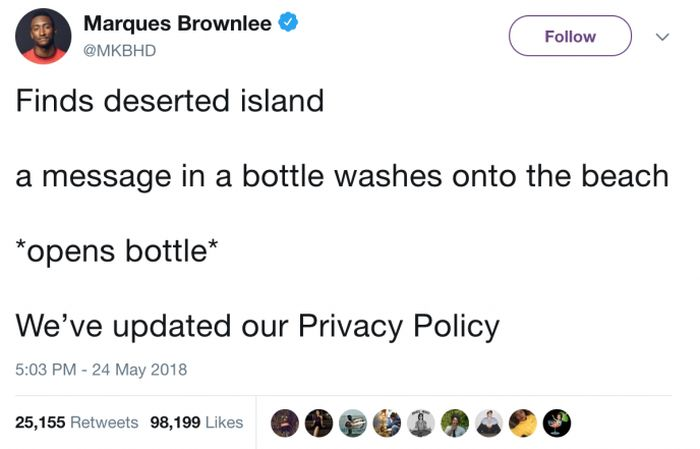 Funny Tweets About All Those Privacy Policy Updates Spamming Your Inbox (29 pics)