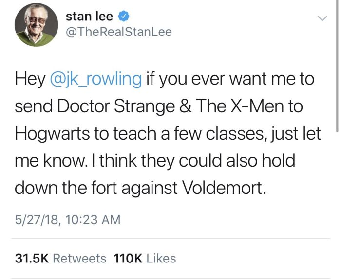 Stan Lee's Twitter Feed Will Give You All The Feels (10 pics)