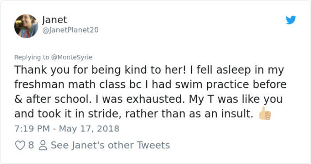 This Teacher's Reaction To A Student Falling Asleep In His Class Has Received Lots Of Positive Feedback From The Internet (18 pics)