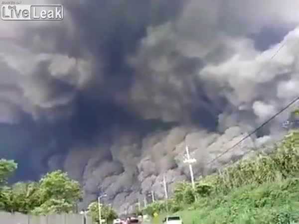 Shocking Video Of Volcano Fuego Eruption In Guatemala