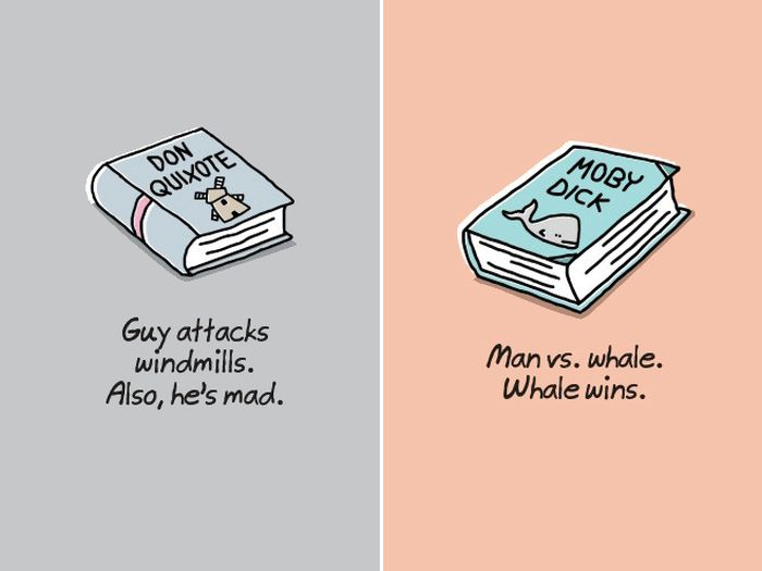 Shortened Versions of Classic Books (9 pics)