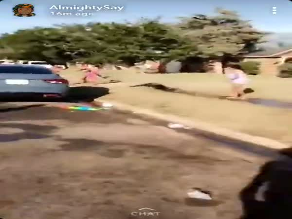 Officer Squirted With Waterguns By Group Of Kids