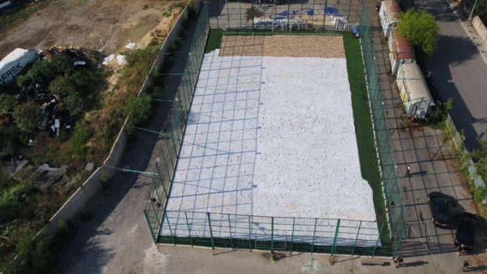 Lebanese Internal Security Forces Record Drugs Haul Fills Football Pitch (5 pics)